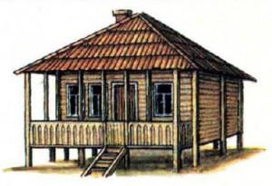 Традиционное жилище абхазов.