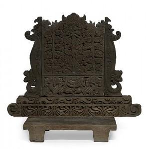 Почетное сиденье абунгов. Использовались для сидения