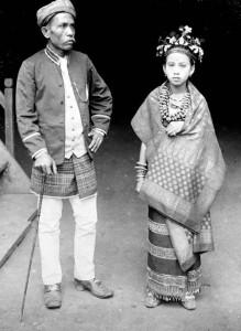 Традиционные костюмы. Фото колониального периода.