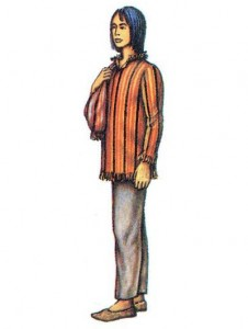 Мужская рубаха из традиционной ткани.