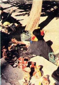 Продажа изделий традиционного ремесла. Район Тимгада.