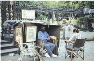 Уличный художник в Новом Орлеане.