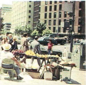 Уличный торговец в Вашингтоне.