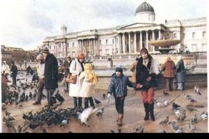 На Трафальгарской площади в Лондоне.