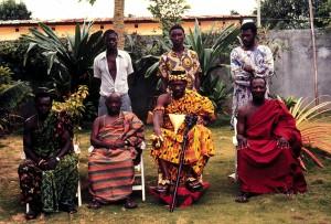 Король Амон Ндуфу IV. Кот-д'Ивуар, 1988.