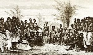 Король Амон Ндуфу II и его двор. 19 век.