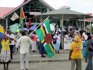 Религиозный митинг за пределами общественного рынка Святого Иоанна.