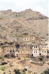 Горное селение йеменских арабов. Йемен.
