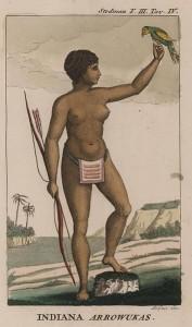 Женщина-лучник из племени араваков. художник Джон Г. Стедмен, 1818.