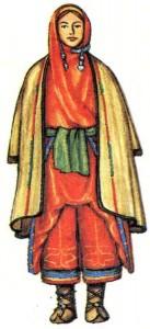 Традиционный женский костюм.
