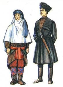 Традиционная одежда аварцев.