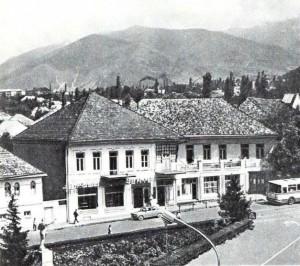 Жилые дома в городе Шеки.
