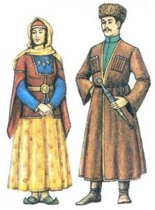 Традиционный костюм азербайджанцев.