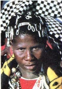Девушка в наряде невесты. Лесото.