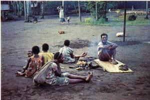 Семья папуасов бонгу.